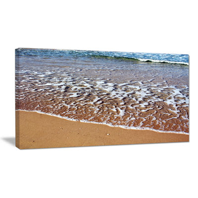 Designart Ashdod Israel Clear Seashore Canvas Art