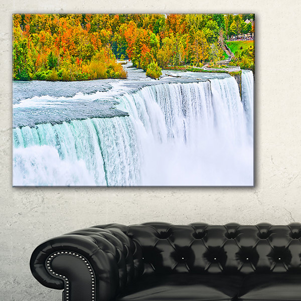 Designart Autumn Niagara Falls Panorama Canvas Art