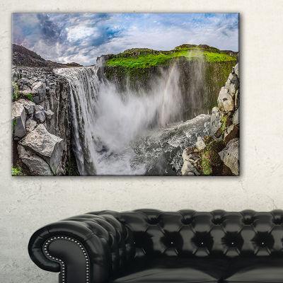 Designart Awesome Dettifoss Waterfall Canvas Art
