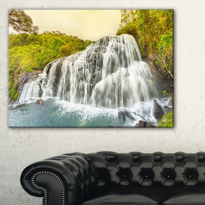 Designart Bakers Waterfall Panoramic View Canvas Art