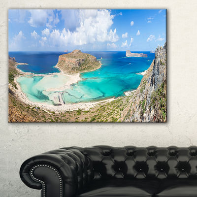 Designart Balos Beach At Crete Island Greece Canvas Art