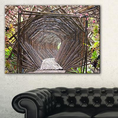 Designart Bamboo Tunnel In The Garden Canvas Art