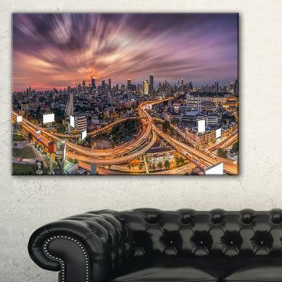 Designart Bangkok S Shaped Express Way Canvas Art
