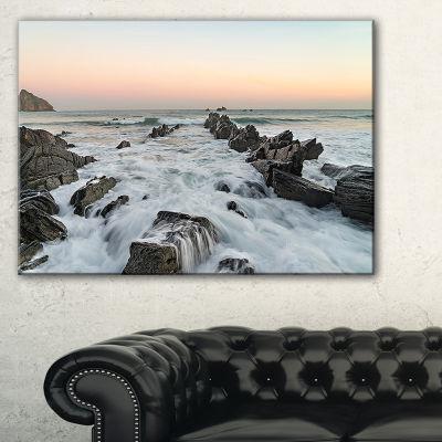 Designart Bay Of Biscay Atlantic Coast Spain Canvas Art
