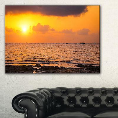 Designart Beautiful African Rocky Coast Canvas Art