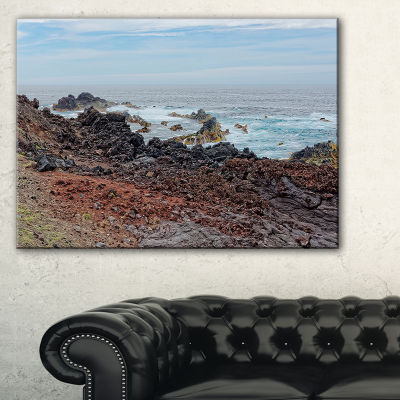 Designart Beautiful Azores Rocky Coast Canvas Art