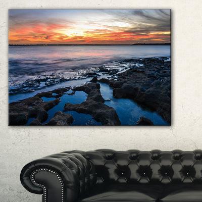 Designart Beautiful Blue Waters In Australia Beach Canvas Art