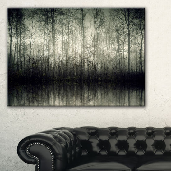 Designart Beautiful Gray Forest In Germany Canvas Art