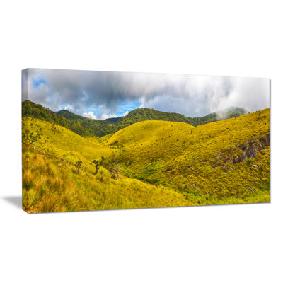 Designart Beautiful Green Horton Plains Canvas Art