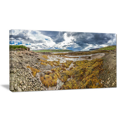 Designart Beautiful Iceland Coast Panorama Canvas Art