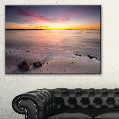 Designart Beautiful Natural Sea During Sunrise Canvas Art
