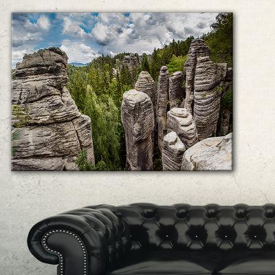 Designart Beautiful Rocks In Bohemian Paradise Canvas Art