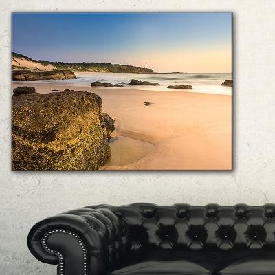 Designart Beautiful Rocky Seashore At Norah Head Canvas Art
