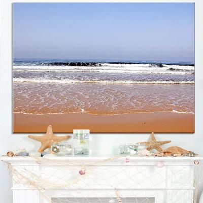 Designart Beautiful Sea And Beach Ashdod Israel Canvas Art