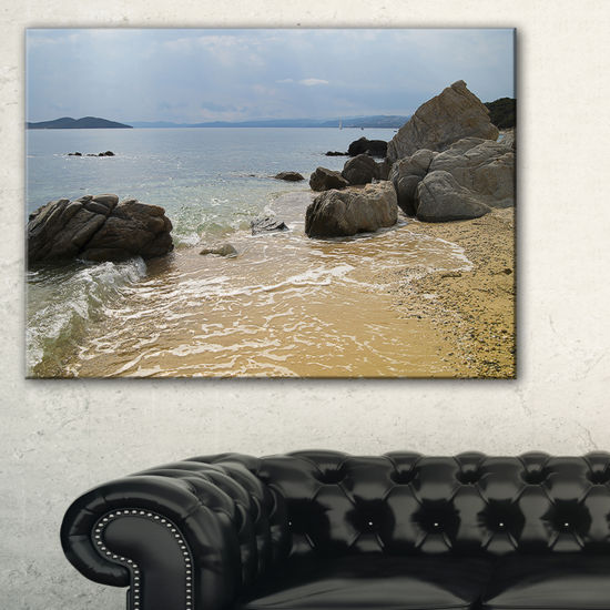 Designart Beautiful Sea View Of Rocky Coast Canvas Art