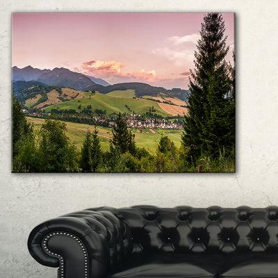 Designart Beautiful Stretch Of Land Panorama Canvas Art