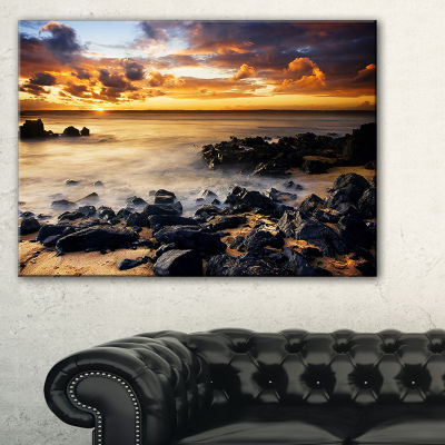 Designart Beautiful Sunset At Philip Island Canvas Art