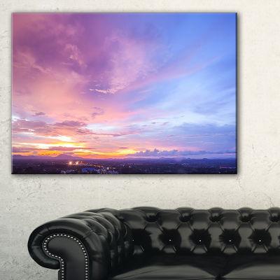 Designart Beautiful Sunset At Trang Thailand Canvas Art