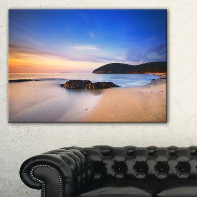 Designart Beautiful Sunset In Cala Violina Beach Canvas Art