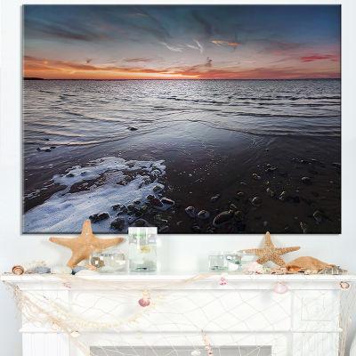 Designart Beautiful Sunset On Chudskoy Lake Canvas Art