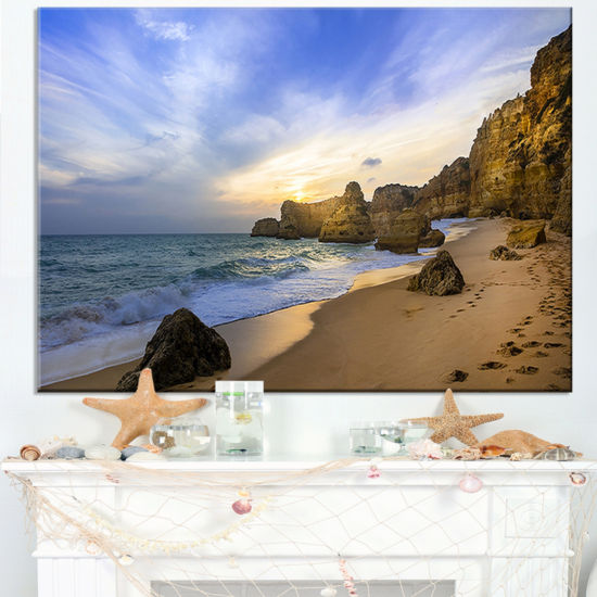 Designart Beautiful Sunset Over Algarve Portugal Canvas Art
