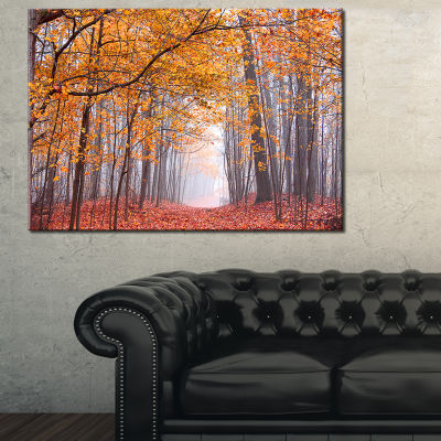 Designart Beautiful Trees With Fallen Leaves 3-pc. Canvas Art