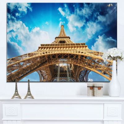 Designart Beautiful View Of Paris Paris Eiffel Towerin Paris Canvas Art