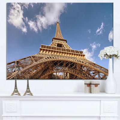 Designart Beautiful View Of Paris Paris Eiffel Towerunder Calm Sky Canvas Art