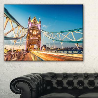 Designart Beautiful View Of Tower Bridge London Canvas Art