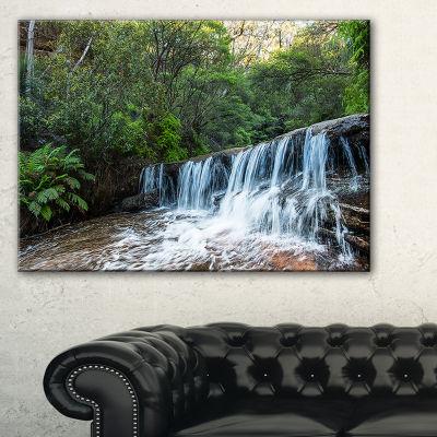 Designart Beautiful Waterfall In New Australia Canvas Art