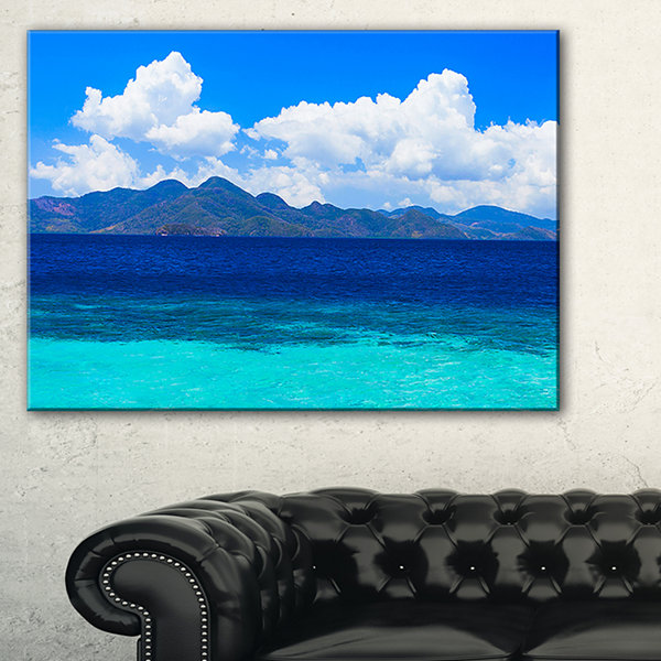 Designart Beauty Blue Beach Canvas Art