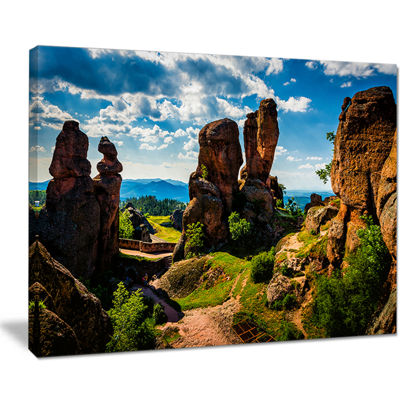 Designart Belogradchik City Fortress And Cliffs Canvas Art