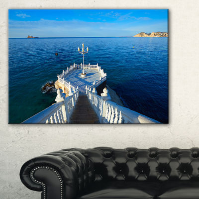 Designart Benidorm Mirador Del Castillo Lookout Point Canvas Art