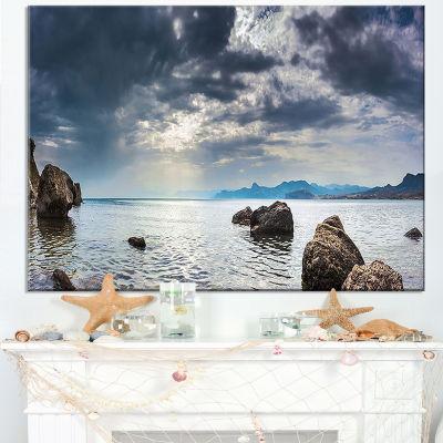 Designart Black Seas In Crimean Peninsula Panorama Canvas Art