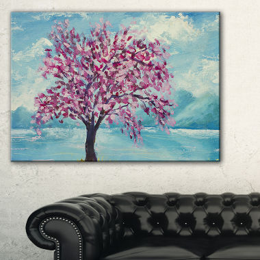 Designart Blooming Sakura Flowers Canvas Art