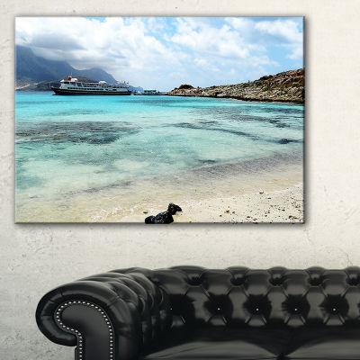 Designart Blue Crete Island In Greece Canvas Art