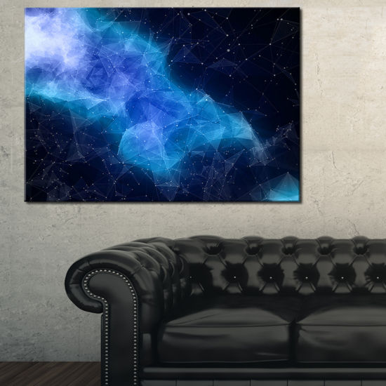 Designart Blue Nebula In Cosmos Canvas Art