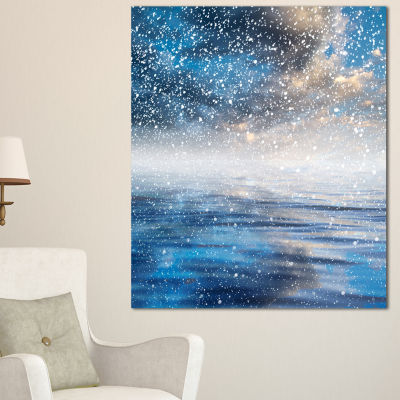 Designart Blue Sky Reflection In The Lake Canvas Art