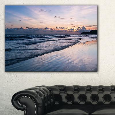 Designart Blue Sunset Sea Waves Thailand Canvas Art