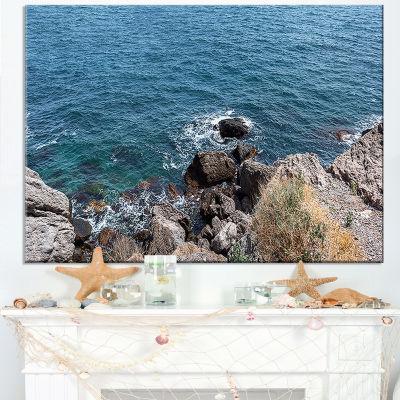 Designart Blue Waters At Crimean Peninsula Beach Canvas Art