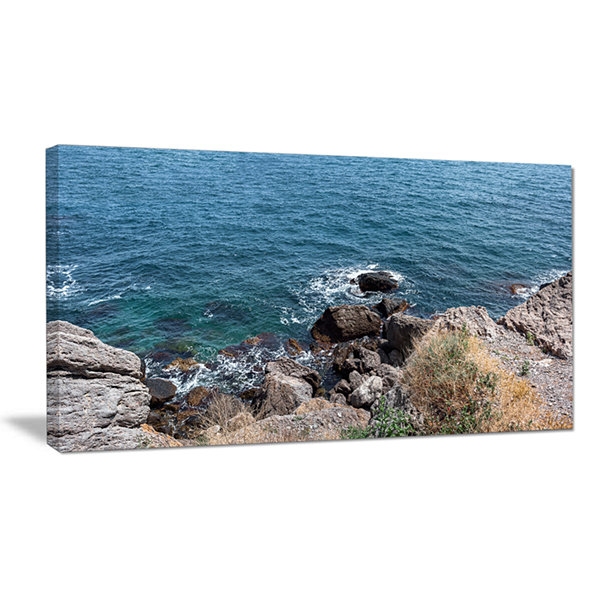 Designart Blue Waters At Crimean Peninsula Beach Canvas Art