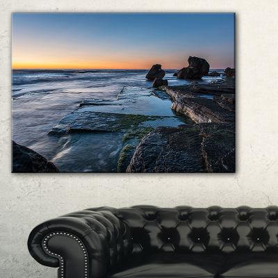 Designart Bluish Sea Waters At Sydney Beach Canvas Art
