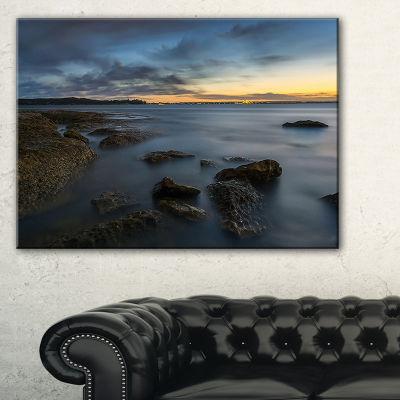 Designart Bluish Sunset At La Perouse Sydney Canvas Art