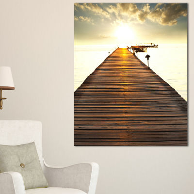 Designart Large Boardwalk Glowing In Sunlight Canvas Art