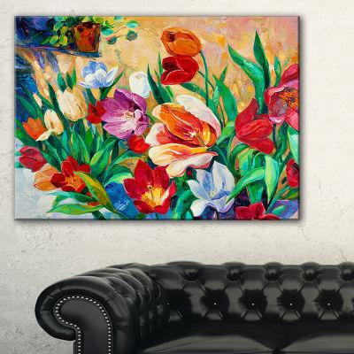 Designart Bouquet Of Colorful Flowers Canvas Art