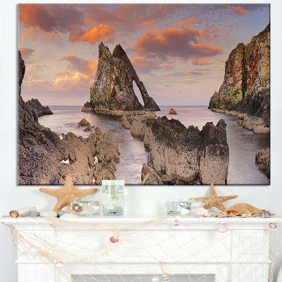 Designart Bow Fiddle Rock Scotland Canvas Art
