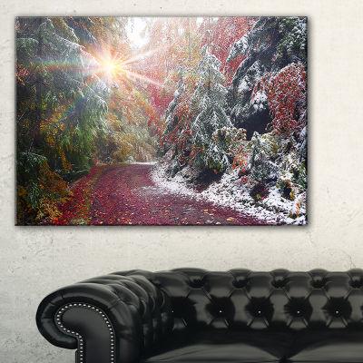 Designart Breathtaking View Of Aline Forest 3-pc. Canvas Art