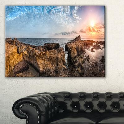 Designart Bright African Seashore Panorama Canvas Art
