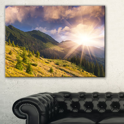 Designart Bright Autumn Midday In Mountains Canvas Art
