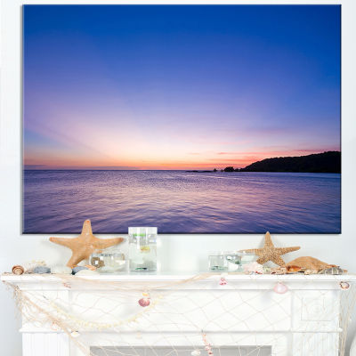 Designart Bright Blue Sky And Waters At Sunset Canvas Art